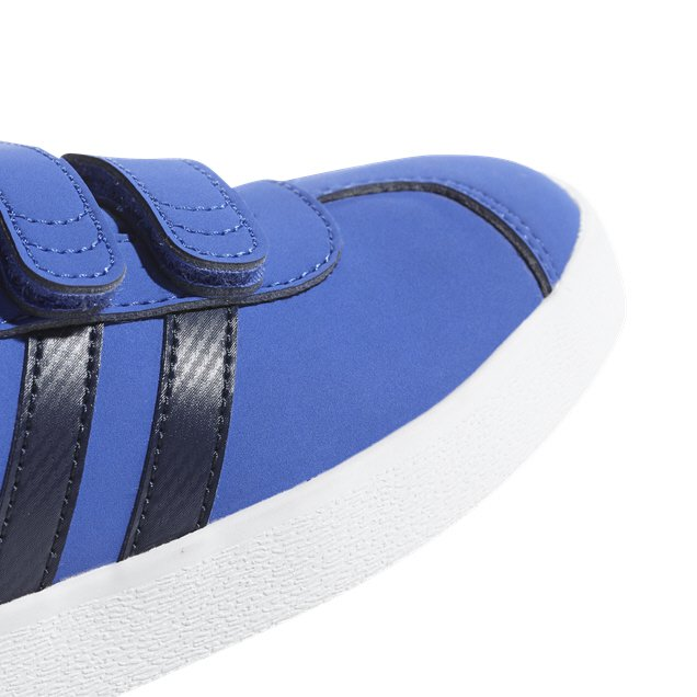 adidas VL Court 2.0 Junior Boys' Trainer, Blue