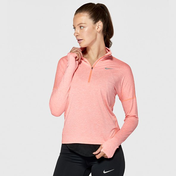 Nike Dry Element Women's ½- Zip Top, Crimson Pulse