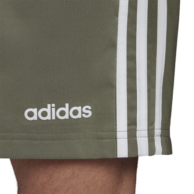 adidas Essential 3 Stripe Chelsea Men's Short, Green