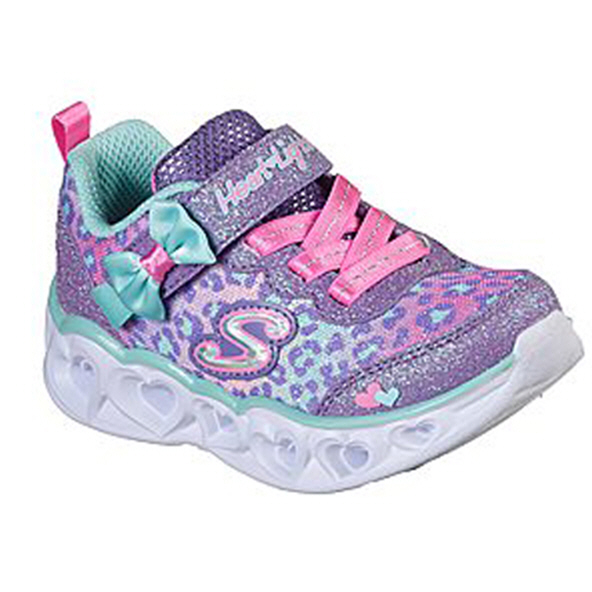 Skechers Heart Lights Inf Girls Purple