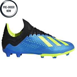 adidas X 18.1 FG Kids' Football Boot, Blue