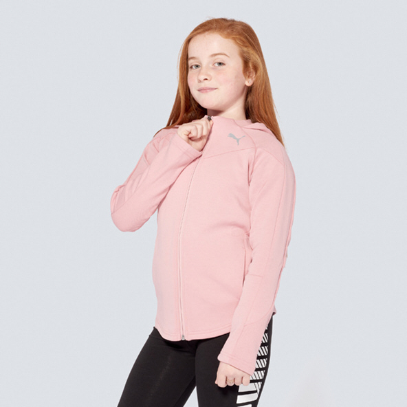 Puma Evostripe Girls Hoodd Jacket Rose