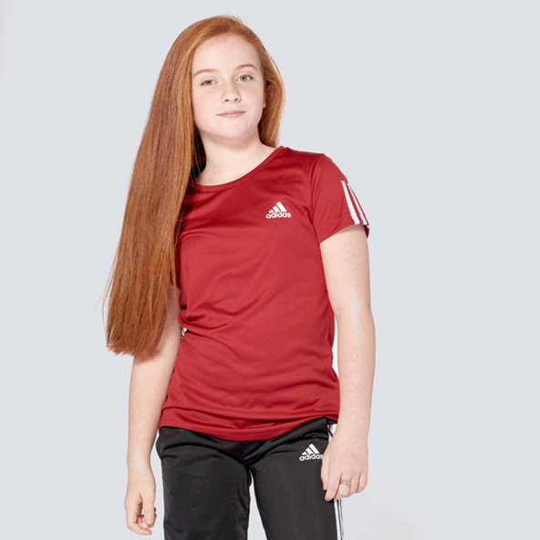 adidas Training EQ Girls Tee Maroon