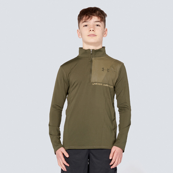 Under Armour® Raid ¼ Zip Boys' Top, Green