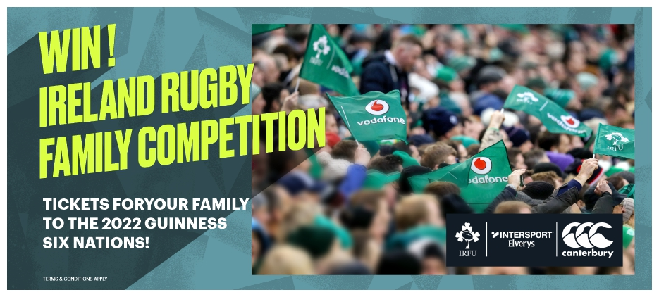 WIN! AN AMAZING IRISH RUGBY FAMILY COMPETITION