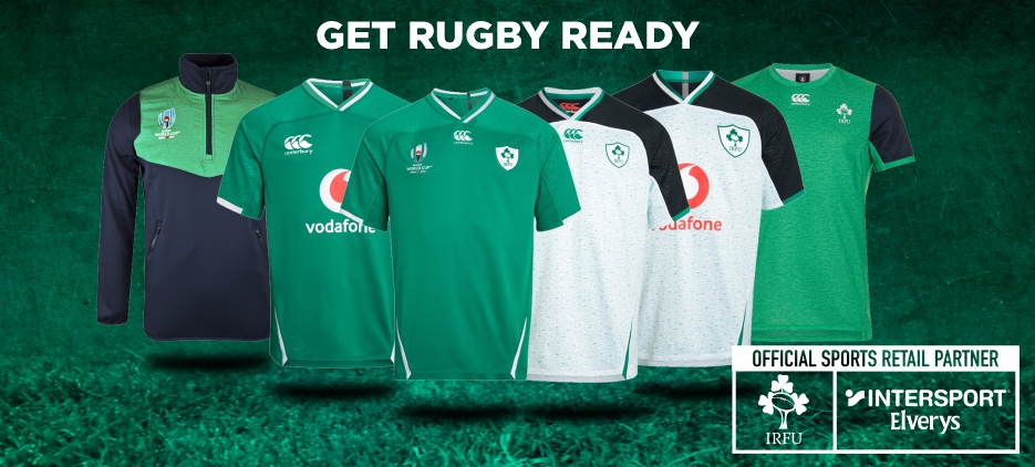 GET KITTED OUT IN IRISH RUGBY GEAR