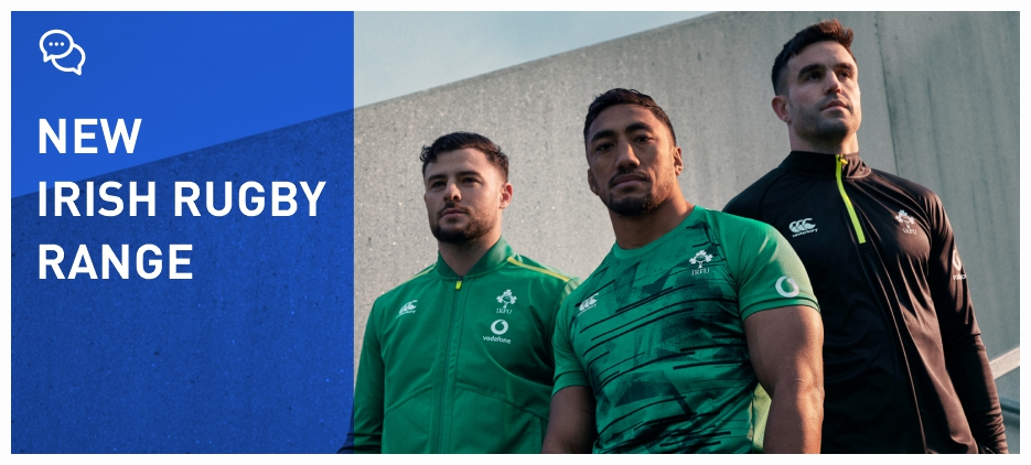NEW CANTERBURY IRISH RUGBY RANGE