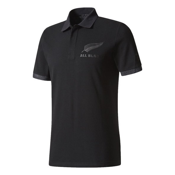 adidas All Blacks 2017 Territory Polo Shirt, Black