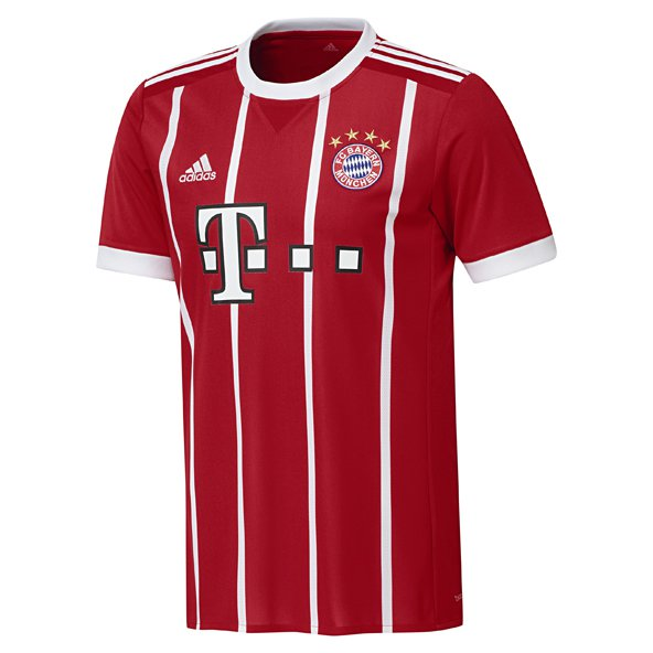 adidas Bayern Munich 2017/18 Kids' Home Jersey, Red