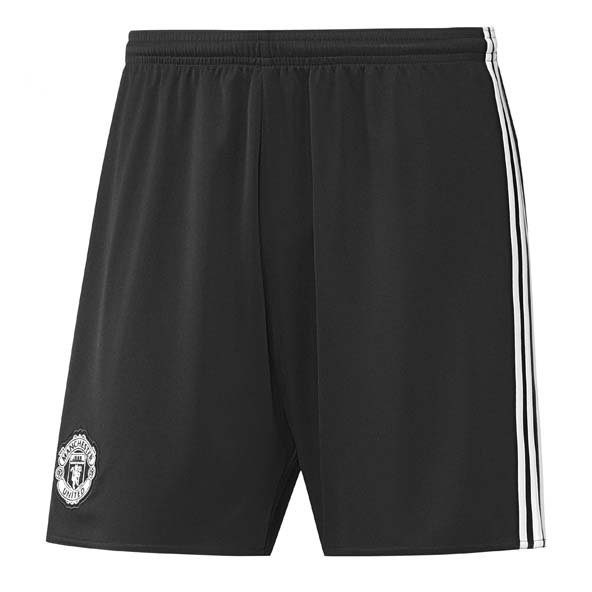 adidas Man United 2017/18 Kids' Away Short, Black