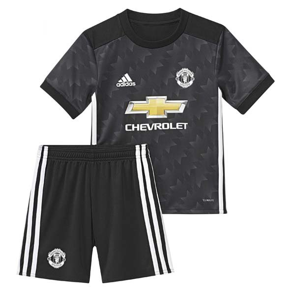 adidas Man United 2017/18 Away Mini Kit, Black