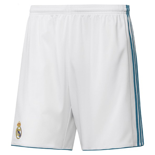 adidas Real Madrid 2017/18 Kids' Home Short, White