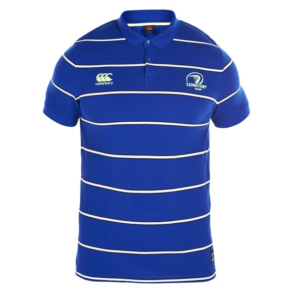 Canterbury Leinster 2016/17 Striped Polo, Blue