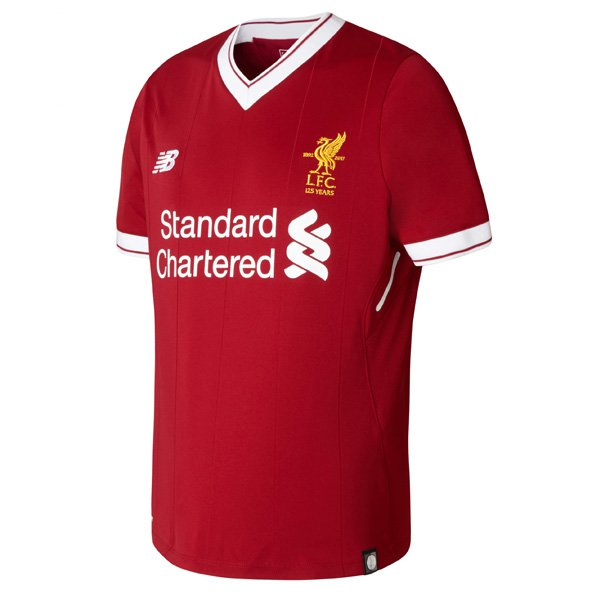 New Balance Liverpool 2017/18 Kids' Home Jersey, Red