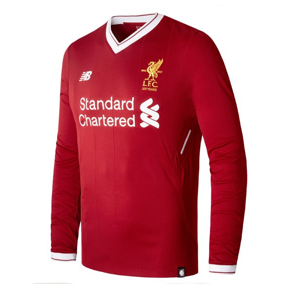 New Balance Liverpool 2017/18 LS Home Jersey, Red